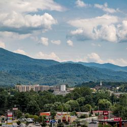 Photo of Waynesville with the Blue Ridge Background