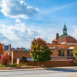 photo of dome over historic First Baptist Church in Asheville NC