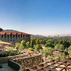 Photo of the Iconic Red Roof and Breathtaking Views from the Grove Park Inn