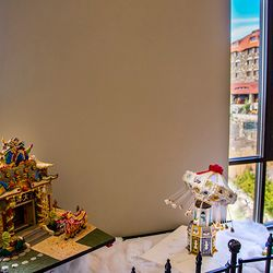 Photo of a Display of Gingerbread Houses at the Grove Park Inn