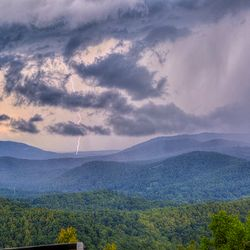 Photo of Dark Clouds over Blue Ridge Mountains