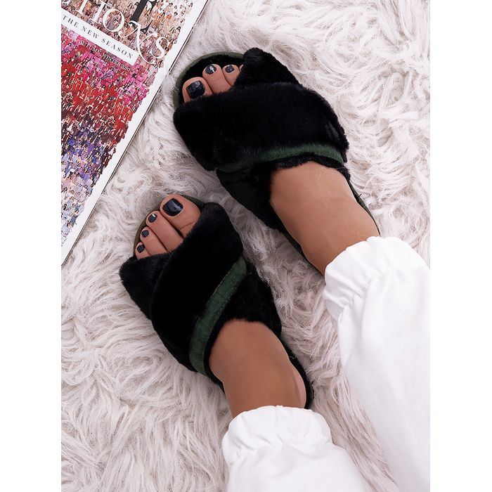 MARIEN BLACK SLIPPERS