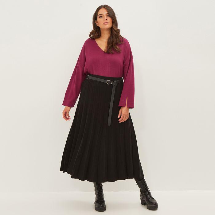 Πλεκτή φούστα πλισσέ