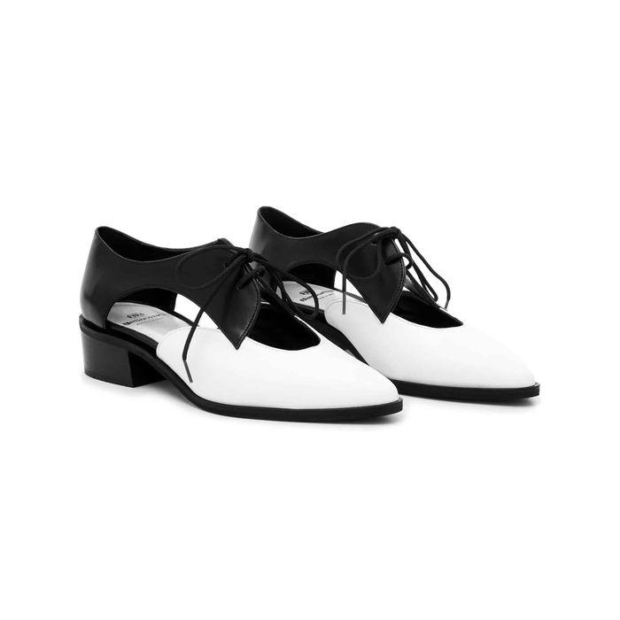 Δερμάτινο Δετό Art 28 Black and White