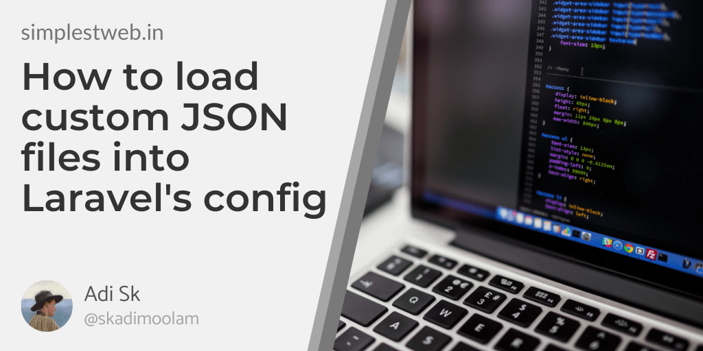 Blog post image - How to load custom JSON files into Laravel's config