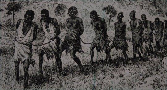 Grafischresultaten voor Afrikaanse stam wordt overvallen door slavenhandelaren
