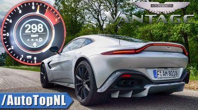Забрзување на Aston Martin Vantage 0-298 км/ч