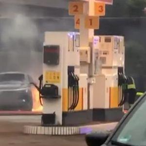 Вадела бензин од резервоар со правосмукалка, ќе кренела цела бензинска во воздух