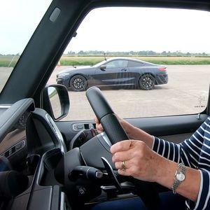 Пензионерка возеше Mеrсеdеs-АMG G63 и BMW M850i на трка (ВИДEO)