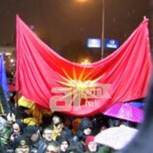 ВИДЕО: Турканици на протестот пред Собрание, за малку избегнат инцидент