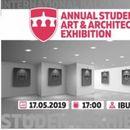 """Изложба на дела на студенти од Меѓународниот Балкански универзитет на тема """"Уметност и архитектура"""""""