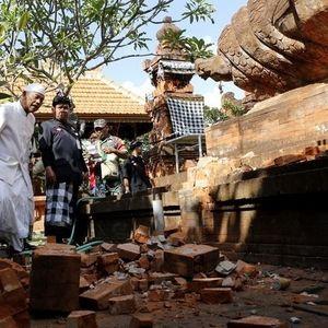 Земјотрес во Индонезија, штети на островот Бали