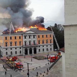 Опожарена општинската зграда на градот Анеси