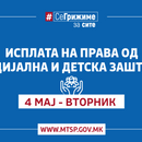 МТСП: Во тек е исплатата на правата од социјална, детска и цивилна заштита