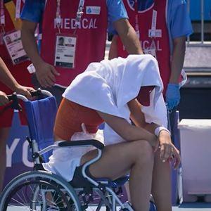 Бадоса поради топлотен удар не го заврши четвртфиналето на Олимпијадата, од теренот изнесена во инвалидска количка