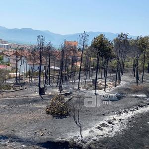(ВИДЕО) Кочани по пожарот: Пепел, изгорени куќи и уништени фасади, се гаснат последните пламени