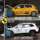 EuroNCAP тест: BMW Series 1, BMW Series 3, Jeep Cherokee и Peugeot 208