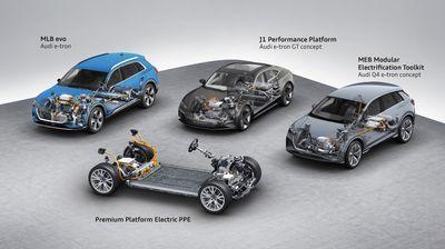 Audi електричните возила ќе ги гради на четири платформи