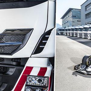 Од Iveco испорачаа посебни камиони за Alfa Romeo F1 тимот !