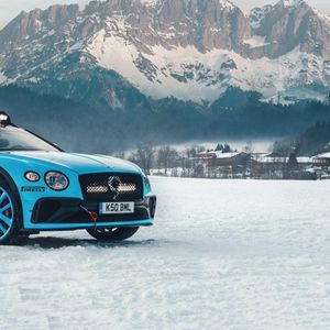 Bentley со специјална зимска верзија на Continental GT за GP Ice Race