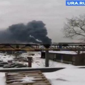 Един пострадал след голям пожар в завод за бои в Русия