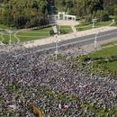 Tens of thousands protest in Belarus capital