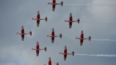 Air Show wows crowds as displays take to the skies