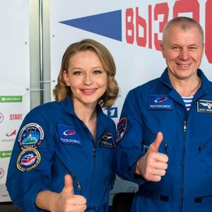 Russian film crew says shooting in space a 'huge challenge'