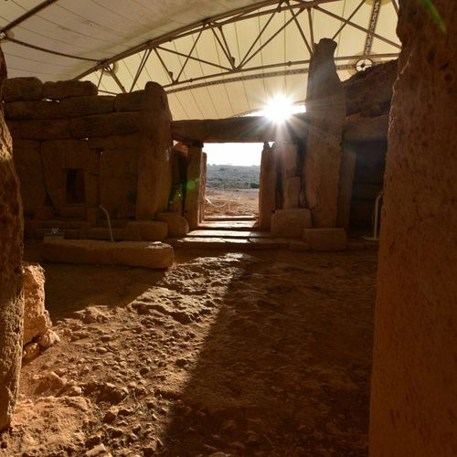 Watch the first autumn sunrays illuminate the Mnajdra Temples