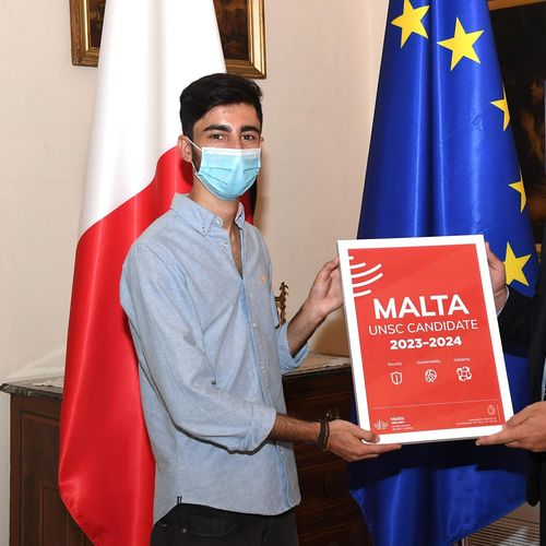 Foreign and European Affairs Ministry awards design student behind Malta's UNSC bid logo