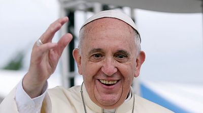 Pope Francis visits homeless shelter during Slovakia visit