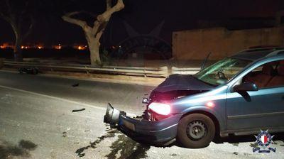 Motorcyclist grievously injured in Żurrieq