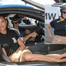 'Buckle up!' Russian stunner Irina Shayk ditches heels to get behind wheel of Formula-E car (PHOTOS)