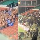 Culture clash: Shocking scenes as football fans in Grozny charge at shirtless Zenit supporters over 'insult to local customs'
