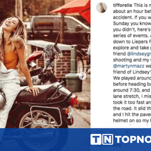 Обвиняват блогърка, че е инсценирала катастрофа с мотор в Instagram заради реклама