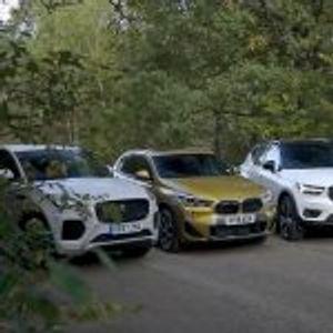 Премиум битка – BMW X2, Volvo XC40 или Jaguar E-Pace (видео)