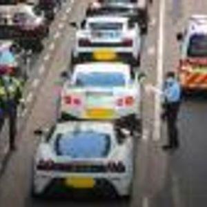 Полицията в Хонконг спря 45 суперколи накуп!