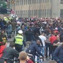 """ВИДЕО: Црвено-бела еуфорија во Копенхаген, полицијата будно ги следи """"Делиите"""""""