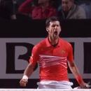 Ѓоковиќ спаси две меч топки против Дел Потро и се пласираше во полуфиналето во Рим