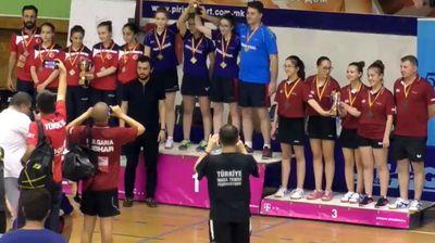 Романија најуспешна во екипниот дел на БП во пинг-понг кое се одржува во Скопје
