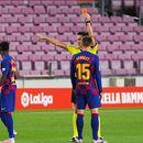 Ансу Фати со добиениот црвен картон влезе во историјата на Барселона и Ла Лига