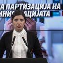 Славева: Криминалната власт на Зоран Заев во заминување спроведува брутална партизација на администрацијата