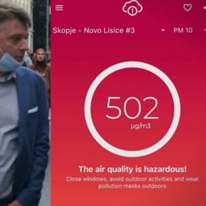 ВО СКОПЈЕ ВЧЕРА НЕ СЕ ДИШЕШЕ: Апсолутен рекордер Ново Лисиче, слична ситуација во Гази Баба и Ректорат