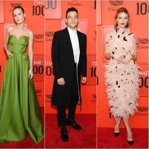 """Совршен црвен килим на """"Тајм 100"""" забавата"""