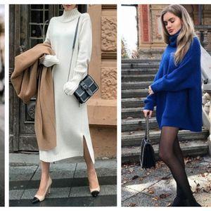 Целосен аутфит со едно парче – џемпер фустаните се идеални за актуелната сезона