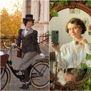 Оваа жена која се облекува како во 19 век стана интернет сензација