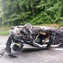 ФОТО Кошаркарот пренесен со хеликоптер во Белград, возилата целосно уништени