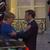 ВИДЕО Макрон ја пречека Меркел во Елисејската палата