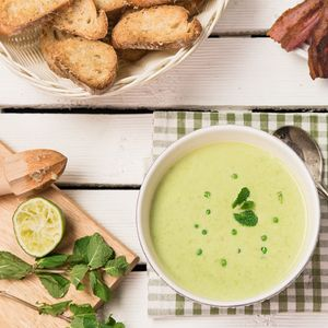 Крем супа с грах и бекон