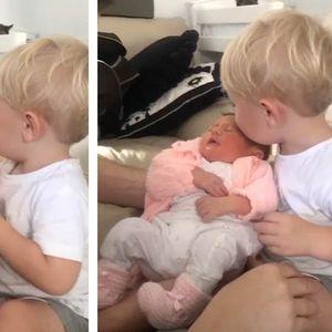 Видео полно љубов: Првата средба на братче со тукушто родената сестра